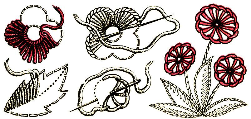 Узоры для вышивки петельным швом 40